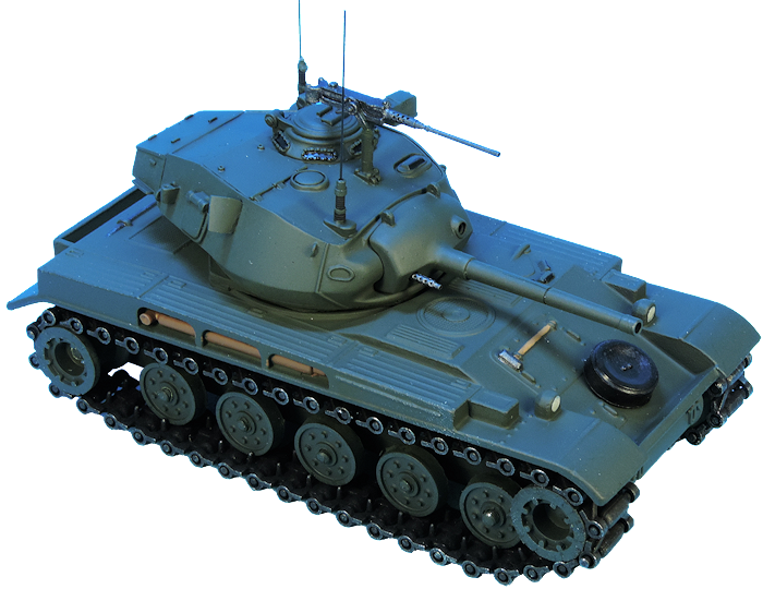 Maquette AMX 13 tourelle Chaffee sur base Solido